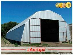 Ангары арочные, шатровые, прямостенные от производителя - photo 1