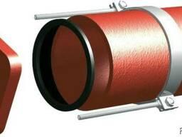 Безраструбная заглушка с прижимными скобами 100 мм Pam-Globa