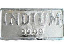 Indiý ingots | metal indium markasy InOO GOST 10297-94