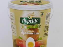 Майонез Appetito высококалорийный с мдж 67% 800гр