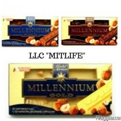 Молочный Шоколад оптом Millennium с орехом Nut LLC Mitlife